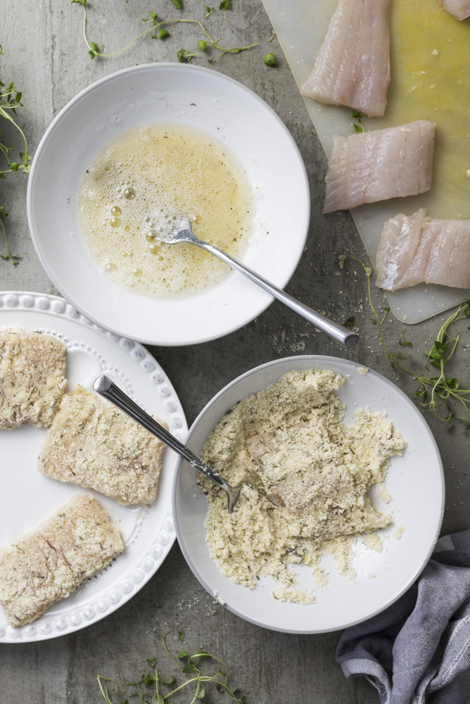 Preparing keto Crumbed Fish with Dairy-Free Hollandaise sauce by Healthy Laura Food Photography. HealthyLaura @healthylauracom paleo, keto crumbed fish recipes, fish recipes, low carb fish almond flour crumb recipes paleo, hollandaise sauce, paleo fish recipe, gluten free fish almond meal fish recipe, paleo healthy recipes, paleo fish recipe, paleo fish crumble. #paleofishrecipes #lowcarbfish #ketofishrecipes