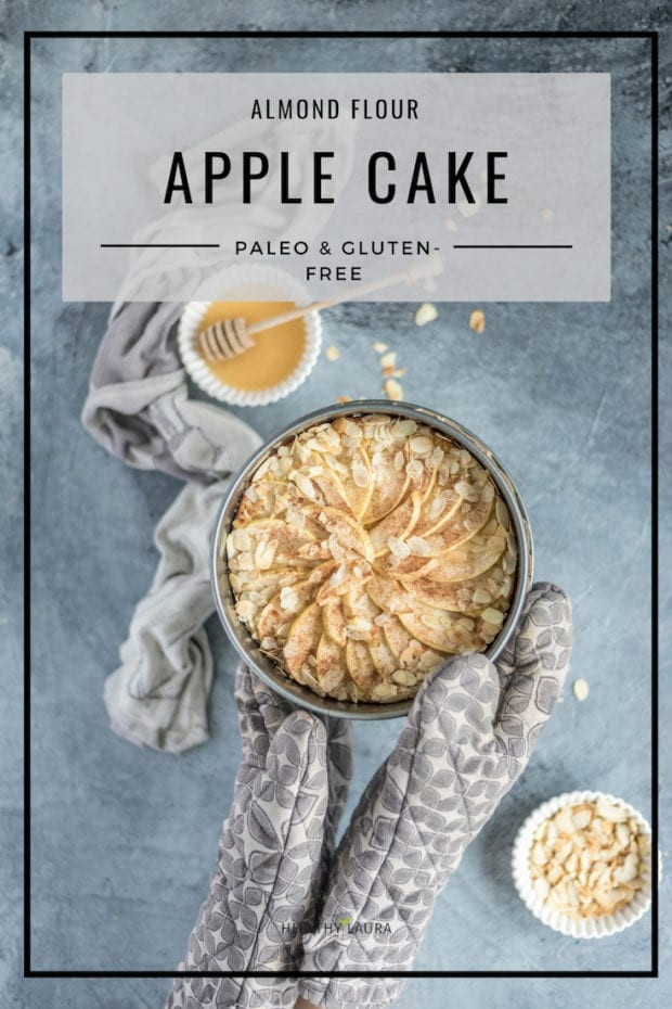 Almond Flour Apple Cake by Healthy Laura Food Photography & Styling. HealthyLaura @healthylauracom paleo, paleo apple recipes, apple cake recipes, apple recipes paleo, almond flour, paleo almond meal recipe, yummy paleo, paleo healthy recipes, paleo apple cake recipe, paleo almond apple, paleo snack, paleo dessert.