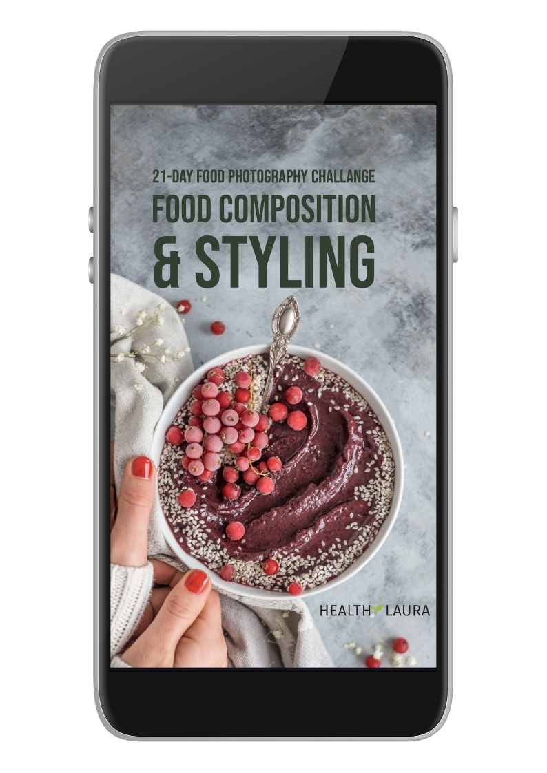 21-Day Food Photography Challenge: Food Composition & Food Styling by Healthy Laura Food Photography & Styling. @healthylauracom HealthyLaura food blogger tips & inspiration as food photographer & foodblogger. My experience and tips for food styling as a food blogger. #foodphotographytips #foodstylingtips #photogaphyworkflow #foodphotography #foodstyling #foodblogging