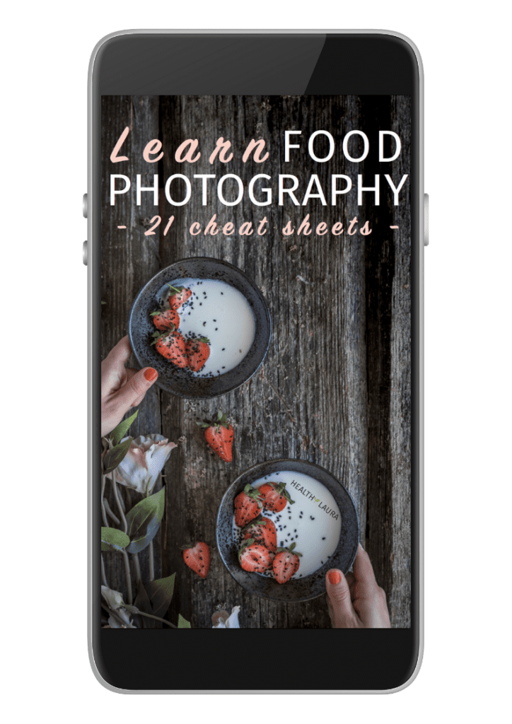 Learn food photography: free cheat sheets by Healthy Laura Food Photography & Styling. Food Styling & food composition tips @healthylauracom HealthyLaura food blogger tips & inspiration as food photographer & foodblogger. My experience and tips for food photography as a food blogger. #foodphotographytips #foodstylingtips #photogaphyworkflow #foodphotography #foodstyling #foodblogging