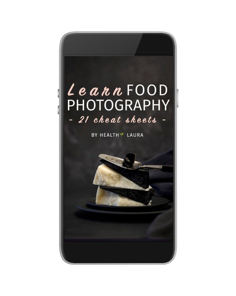 Free food photography cheat sheets by Healthy Laura @healthylauracom Food Photography Laura Kuklase